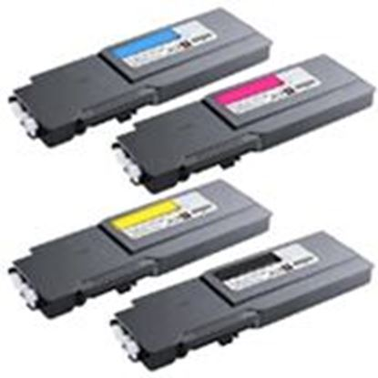 Foto de Dell C2660 / C2665 Cartouche de toner compatible Rainbow Pack