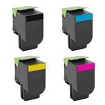 Afbeeldingen van Lexmark C544X1KG/CG/MG/YG Extra Cartouche de toner compatible Rainbow 4 couleurs