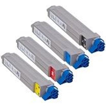 Foto de OKI C910/C920/C930 Cartouche de toner compatible Rainbow 4 couleurs